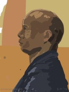 Danny Mooney 'Peter #1, 22/3/2014' Digital painting