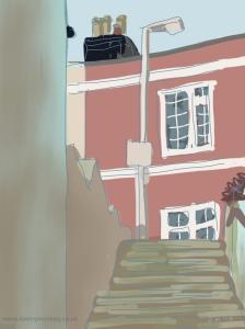 Danny Mooney 'Steps 27/3/2014' Digital painting