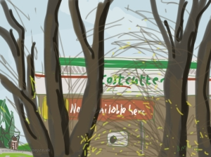 Danny Mooney 'Costcutter 10/4/2014' Digital painting