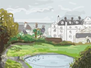Danny Mooney 'Gensing Gardens 8/4/2014' Digital painting