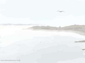 Danny Mooney 'Low lying sea mist 1/4/2014' Digital painting