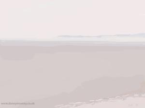 Danny Mooney 'Misty sea 3/4/2014' Digital painting