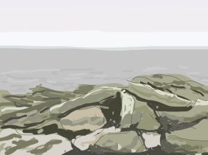 Danny Mooney 'Rocks 2/4/2014' Digital painting