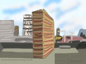Danny Mooney 'Work No. 1812, 5/4/2014' Digital painting