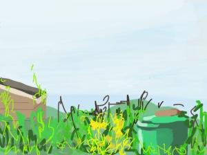 Danny Mooney 'Allotment, 5/5/2014' iPad painting