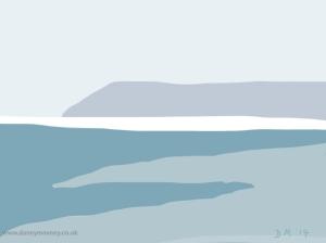Danny Mooney 'Beachy Head, 3/5/2014' iPad painting