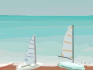 Danny Mooney 'Boats 31/5/2014' iPad painting