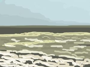 Danny Mooney 'Choppy Sea, 10/5/2014' iPad painting