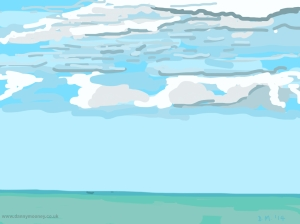 Danny Mooney 'Clouds, 13/5/2014' iPad painting