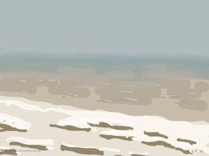 Danny Mooney 'Cold & wet, 8/5/2014' iPad painting