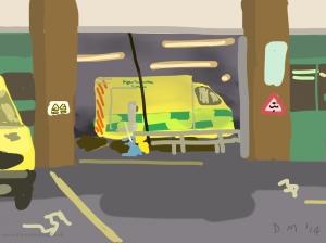 Danny Mooney 'Garage, 30/5/2014' iPad painting