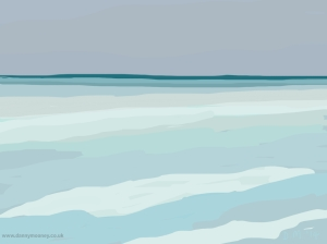Danny Mooney 'Horizon, 26/5/2014' iPad painting