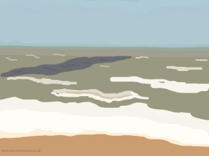 Danny Mooney 'Intermittent sun, 9/5/2014' iPad painting