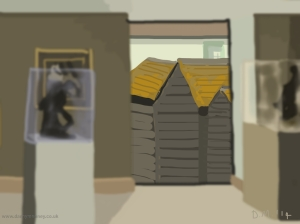 Danny Mooney 'Net huts, 16/5/2014' iPad painting