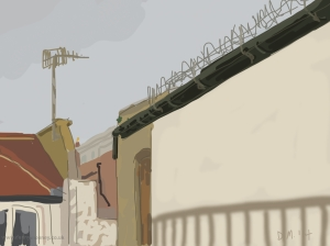 Danny Mooney 'Railings, 11/5/2014' iPad painting