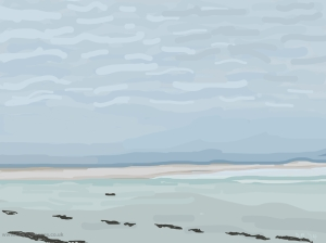Danny Mooney 'Saharan sand again? 17/5/2014' iPad painting