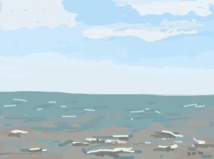 Danny Mooney 'Seascape, 7/5/2014' iPad painting