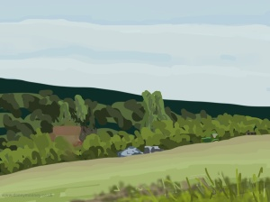 Danny Mooney 'Campsite, 21/6/2014' iPad painting #APAD