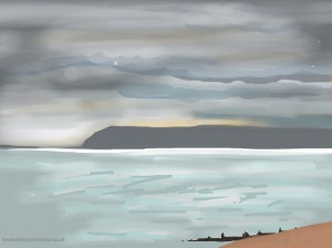 Danny Mooney 'Clouds gathering, 16/6/2014' iPad painting #APAD
