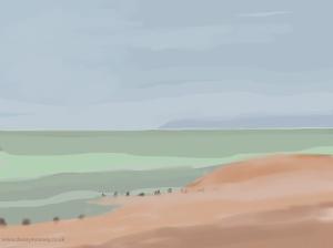 Danny Mooney 'Cooler evening, 14/6/2014' iPad painting #APAD