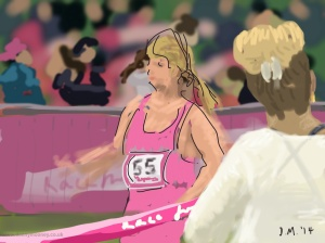 Danny Mooney 'Finish line, 15/6/2014' iPad painting #APAD