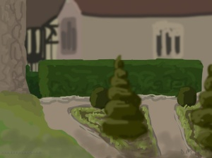 Danny Mooney 'Ightham Mote, 28/6/2014' iPad painting