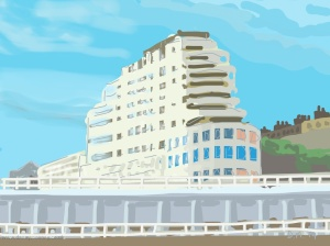 Danny Mooney 'Marine Court, 25/6/2014' ipad painting #APAD
