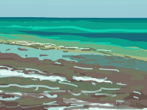 Danny Mooney 'Pett Level, 27/6/2014' iPad painting