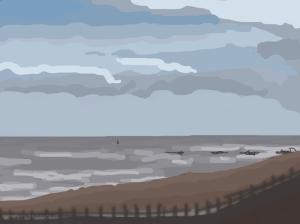 Danny Mooney 'Purple, 1/6/2014' iPad painting
