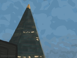 Danny Mooney 'Shard, 2/6/2014' iPad painting
