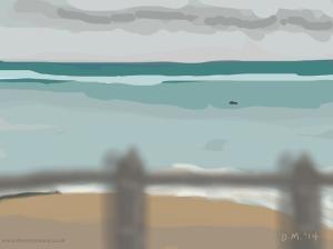 Danny Mooney 'Small fishing boat, 3/6/2014' iPad painting