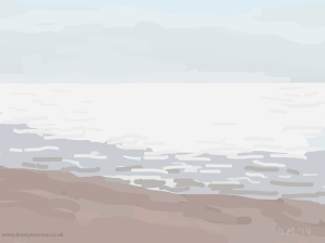 Danny Mooney 'So bright, 5/6/2014' iPad painting