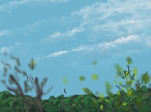 Danny Mooney 'Train to London, 8/6/2014' iPad painting