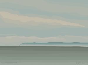 Danny Mooney 'Warm misty evening, 6/6/2014' iPad painting
