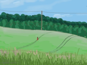 Danny Mooney 'Wheat field, 20/6/2014' iPad painting #APAD