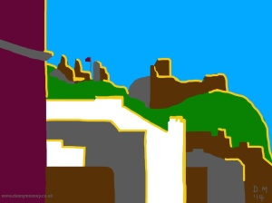 Danny Mooney 'Hastings Castle, 3/7/2014' iPad painting #APAD