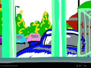 Danny Mooney 'McDonald's car park, 6/7/2014' iPad painting #APAD