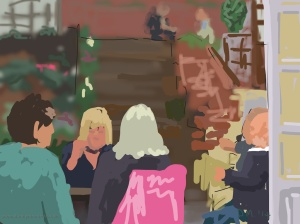 Danny Mooney 'Chris' party, 30/8/2014' iPad drawing #APAD