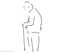 Danny Mooney 'Old man, 27/8/2014' iPad drawing #APAD
