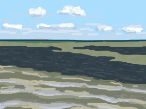 Danny Mooney 'There's a ship on the horizon, 21/8/2014' iPad drawing #APAD