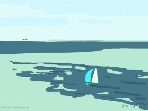 Danny Mooney 'Turquoise, 23/8/2014' iPad drawing #APAD