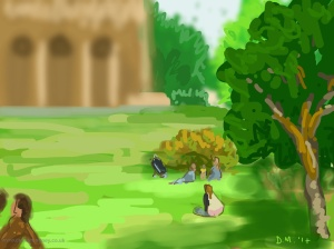 Danny Mooney 'Brighton Pavillion Gardens, 6/9/2014' iPad painting #APAD