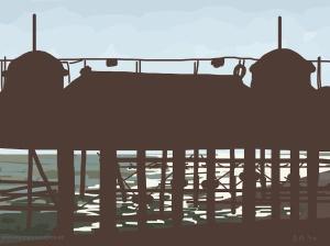 Danny Mooney 'Hastings Pier, 3/9/2014' iPad drawing #APAD