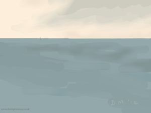 Danny Mooney 'Lonely boat, 11/9/2014' iPad Painting #APAD