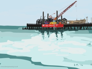 Danny Mooney 'Reflections, Hastings pier, 22/9/2014' iPad painting #APAD