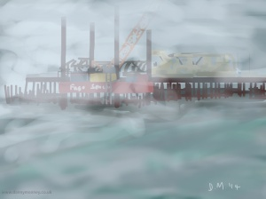 Danny Mooney 'Sea mist, 19/9/2014' iPad painting #APAD