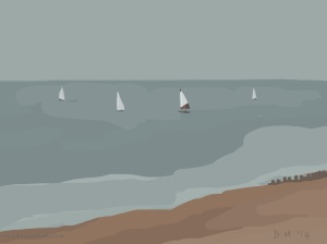 Danny Mooney 'Sunday sailing, 7/9/2014' iPad painting #APAD