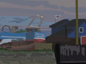 Danny Mooney 'The Stade, dusk, 13/9/2014' iPad Painting #APAD