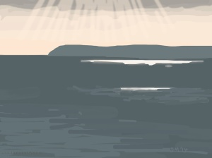 Danny Mooney 'Towards sunset, 10/9/2014' iPad Painting #APAD