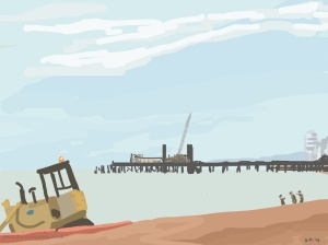 Danny Mooney 'Tractor, 28/9/2014' iPad painting #APAD